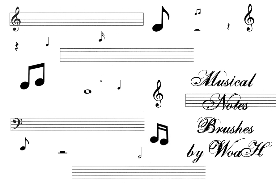 Musical Notes Brushes