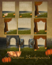 Free Autumn Backgrounds by Arah019