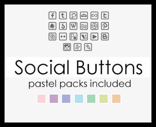 Social buttons square by BluAjisai