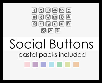 Social buttons square