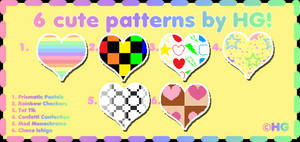 6 Cute Patterns by HG