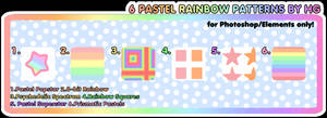 6 Pastel Rainbow Patterns by HG