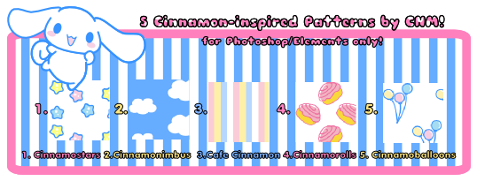 5 Cinnamon-Inspired Patterns by CNM by Crystal-Moore