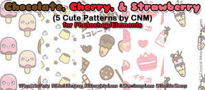 Chocolate, Cherry, and Strawberry Patterns by CNM
