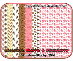 Chocolate, Cherry, and Strawberry BGs by CNM
