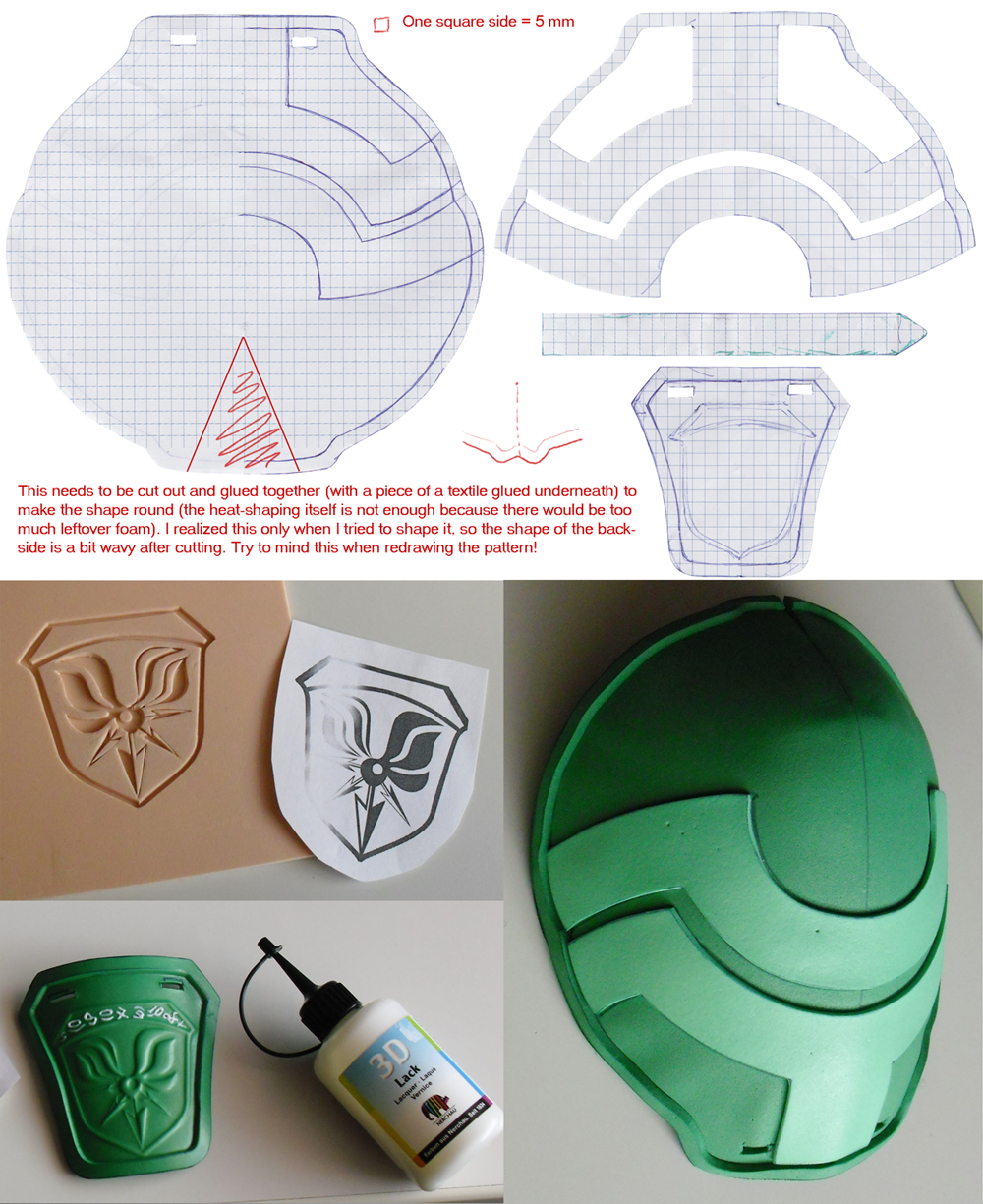 Lightning's Pauldron Downloadable Pattern by akelataka