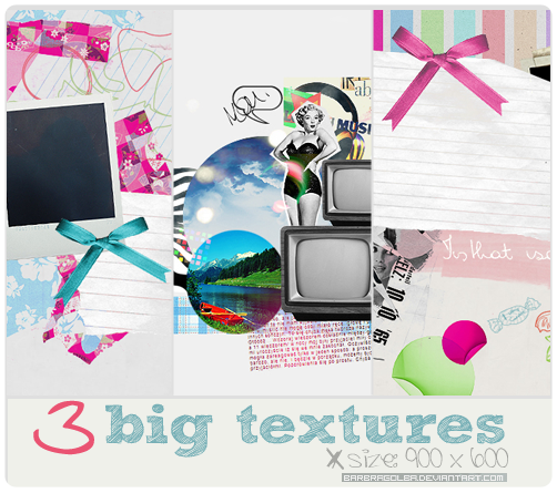 3 Big Vintage Textures by BarbraGolba
