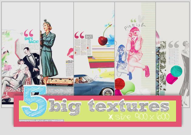 5 Big Retro textures by BarbraGolba