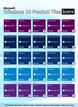 Microsoft Windows 10 Product Tiles