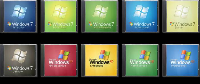 Vista-like Windows Jewel Case Boxes
