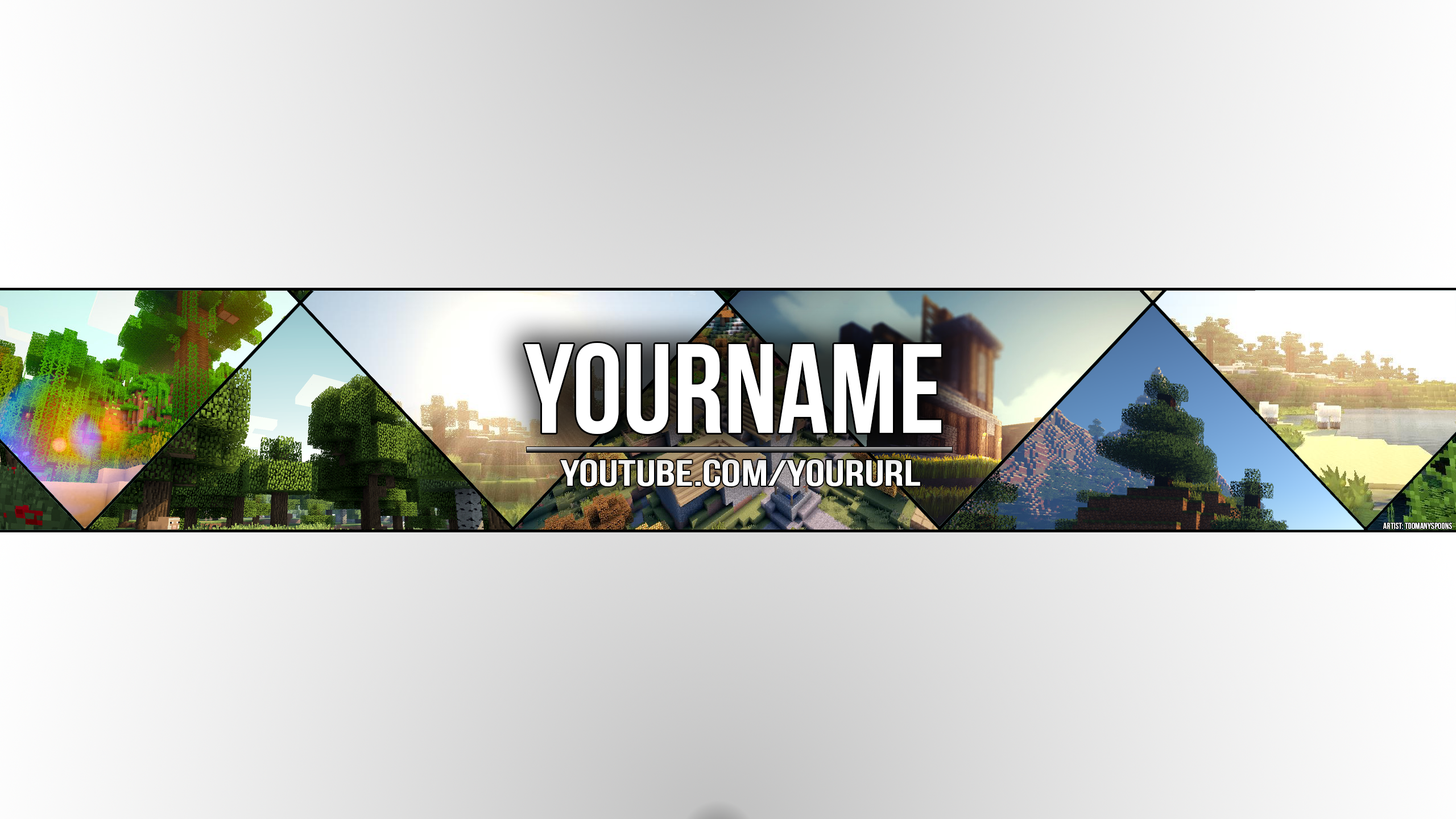 Minecraft Themed Youtube Cover Art Correct Size By Toomanyspoons