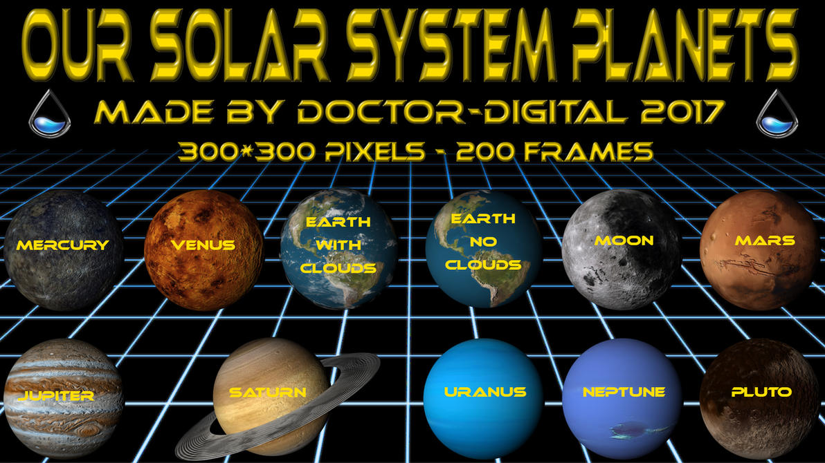 Our Solar System Planets - Part 1 by Doctor-Digital on DeviantArt