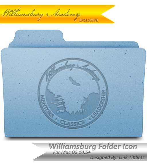 Williamsburg Academy Folder Icon For Mac OS 10.5+ by SgtMjrTibbets