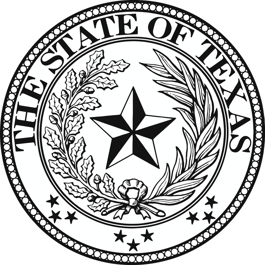 Texas state seal by soulcomplex on deviantart for State of texas symbols coloring pages