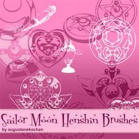 Sailor Moon Henshin Brushes by augustanekochan