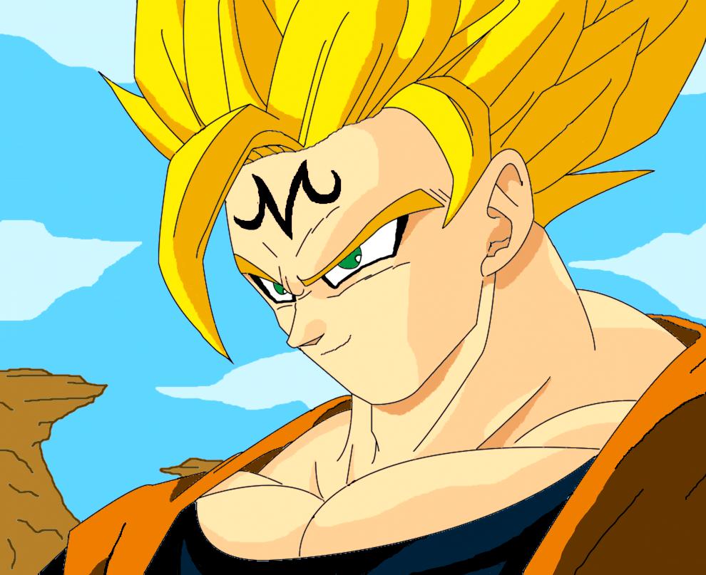 Majin Goku (Re-Draw) by JordanMcFighter on DeviantArt