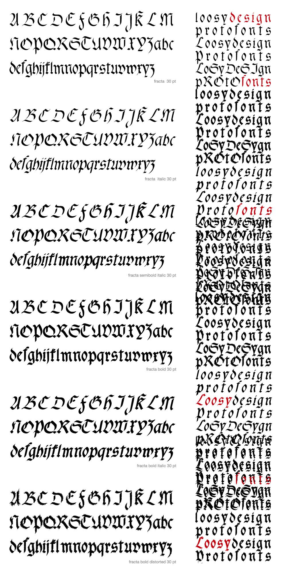 fracta font family download