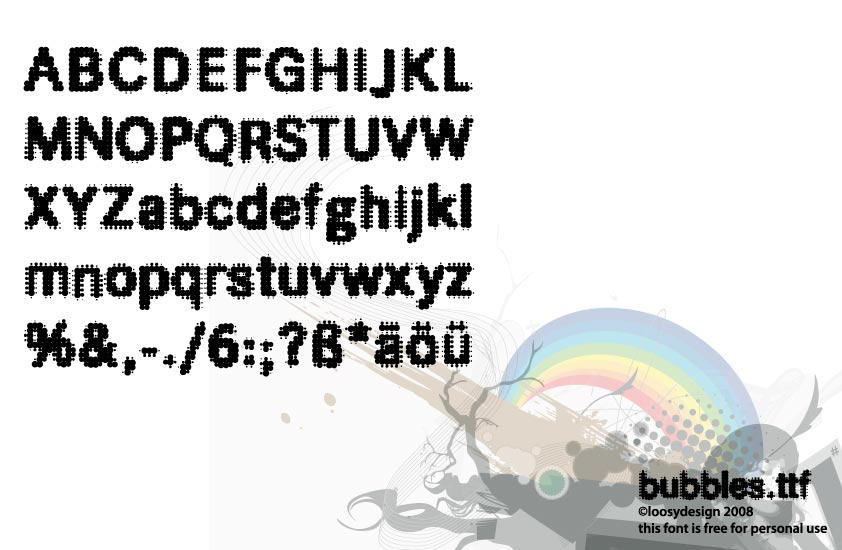 bubbles.ttf download by protofonts
