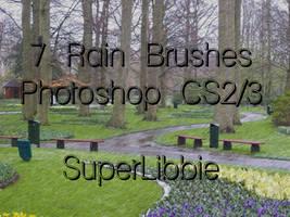 Rain PS Brushes by superlibbie