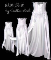 white skirt stock by Ecathe