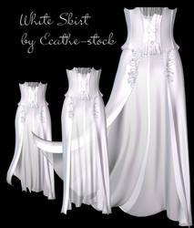 white skirt stock