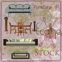 Furnitures stock pack 01 by Ecathe