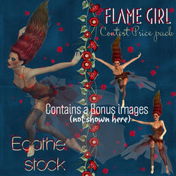 Flame burning girl