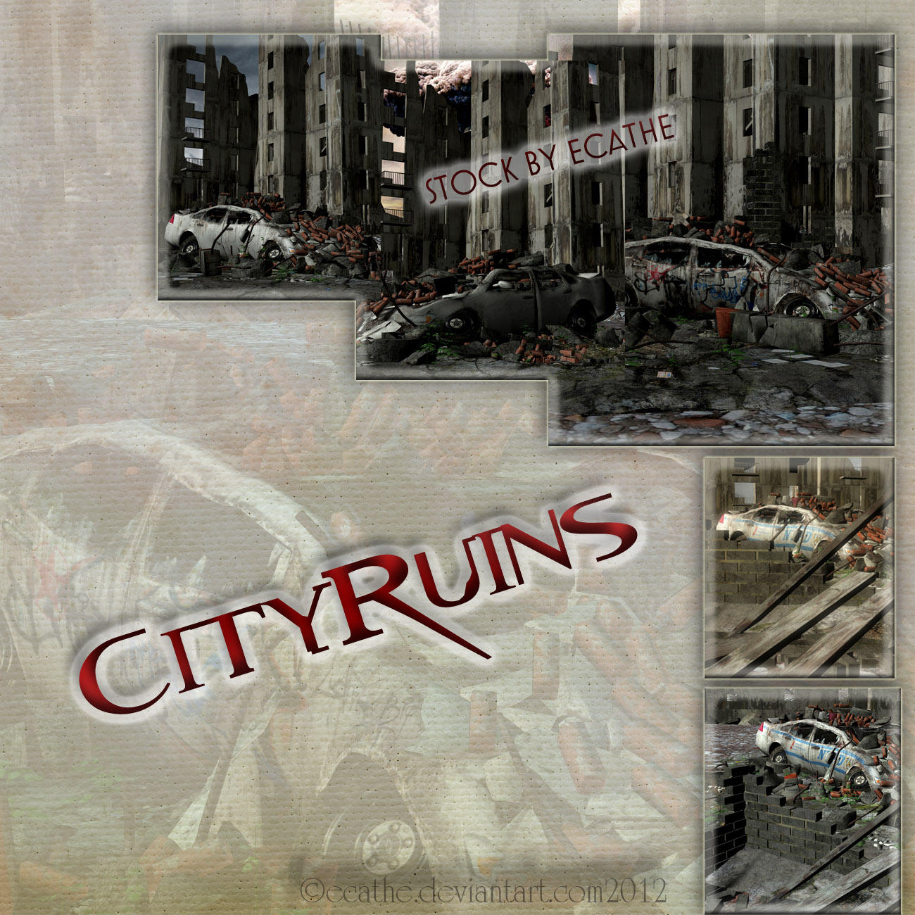 5 City Ruins background pack by Ecathe