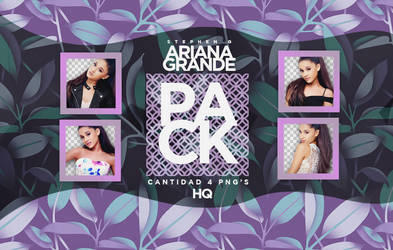 PACK PNG // ARIANA GRANDE by CamiloBlink
