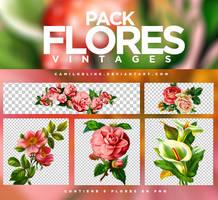 FLORES VINTAGE ||PACK PNG by CamiloBlink
