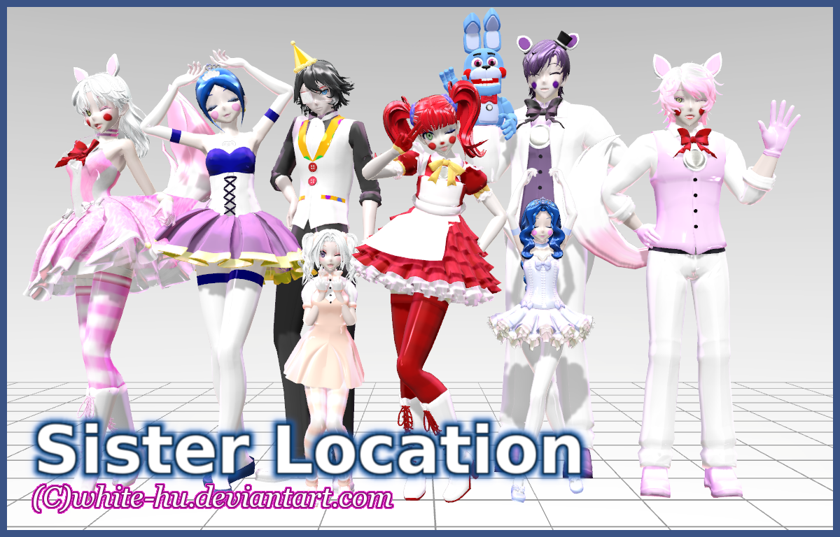 FNAF Sister Location Models: DL down for now by White-Hu