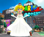 Peach (Wedding) + Tiara Eyes - Super Mario Odyssey
