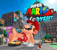 Mario (Boxers) + Cappy Eyes - Super Mario Odyssey by Hakirya