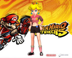 Peach (Concept Art) - Super Mario Strikers by Hakirya