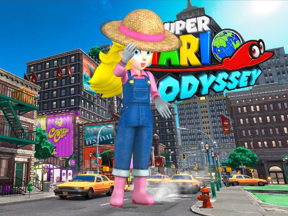 Peach Farmer Super Mario Odyssey By Hakirya On Deviantart