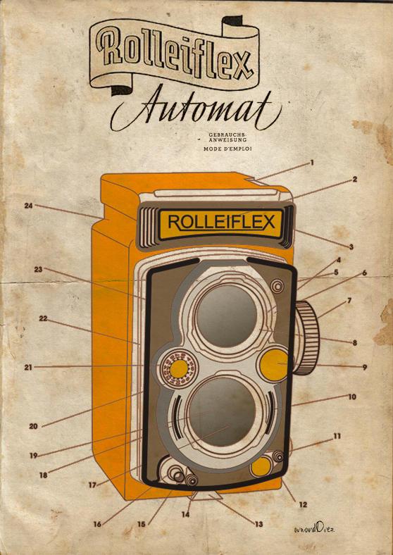 rolleiflex camera by ArmandOrez