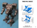 Mad Cat Mech Paper Model