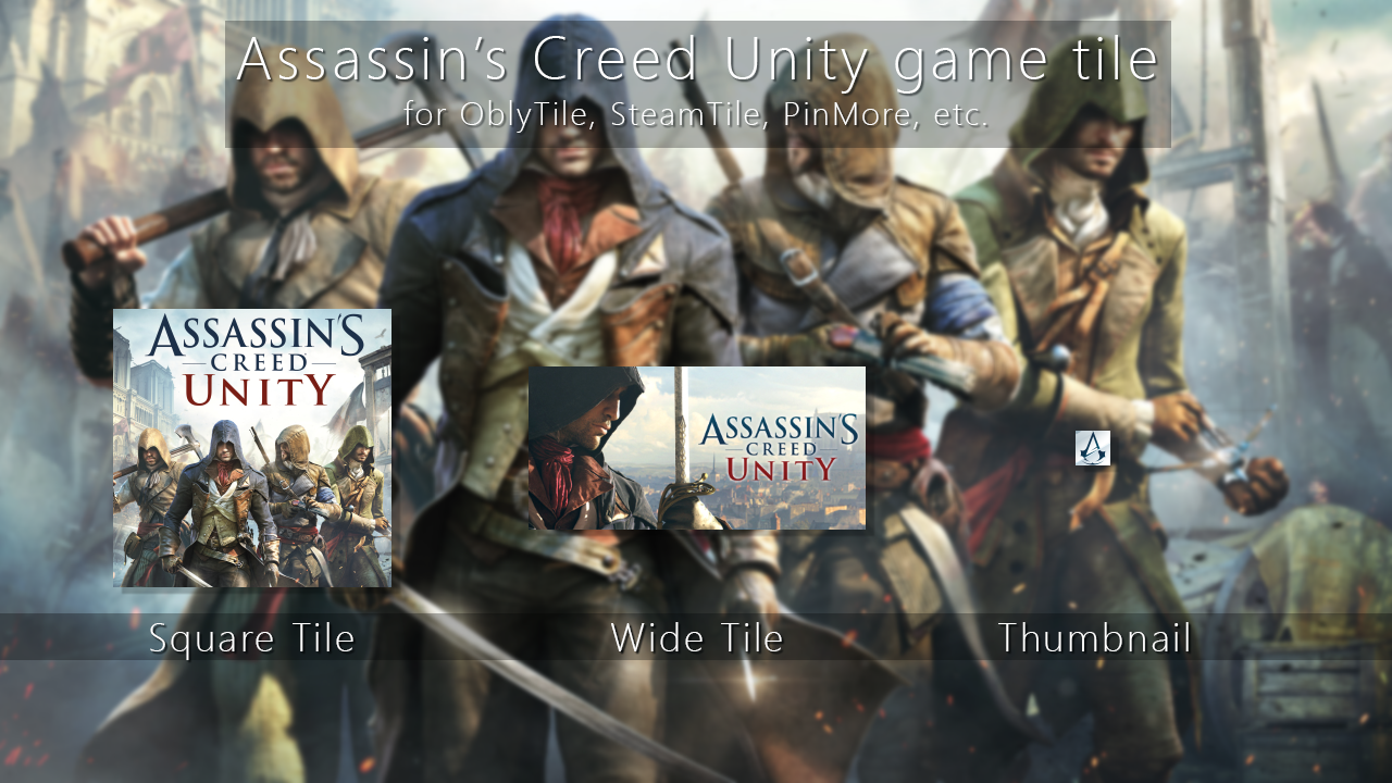 Assassin's Creed Unity Tile Icon by ENIGMAXG2 on DeviantArt