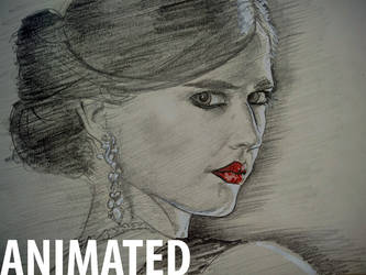 Eva Green drawing process.