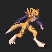 Renamon Turntable Pose 1 by KP-ShadowSquirrel
