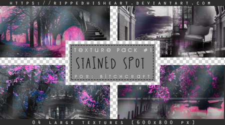 TEXTURE PACK 01# Stained Spot by RippedHisHeart