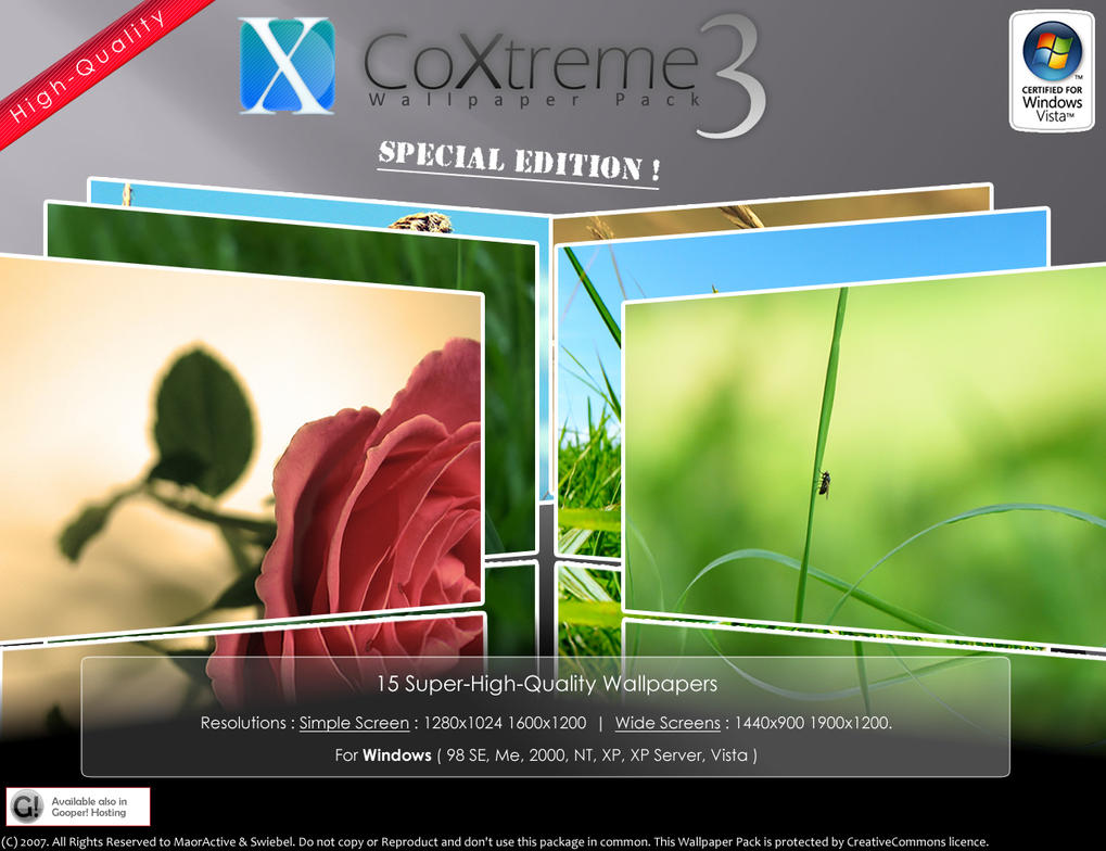 CoXtreme Wallpaper Pack 3 Wide by maoractive