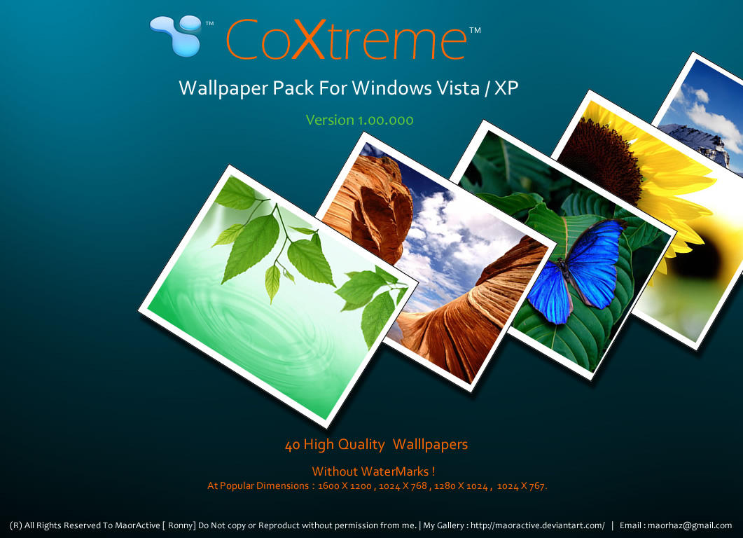 CoXtreme Wallpaper Pack 1 by maoractive