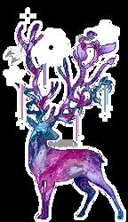Galaxy deer - animated pixel doll