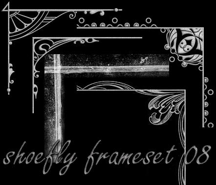 Photoshop frame set 08 by shoe-fly