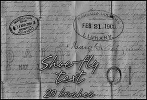 Text brush set by shoe-fly