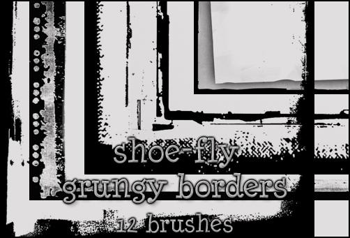 Grungy border brush set