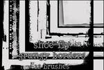 Grungy border brush set
