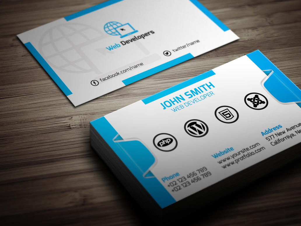 Web Developer Business Card by Muslimuddin on DeviantArt