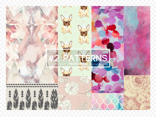 #2 PACK  [ patterns / motivos ] by tropicsong